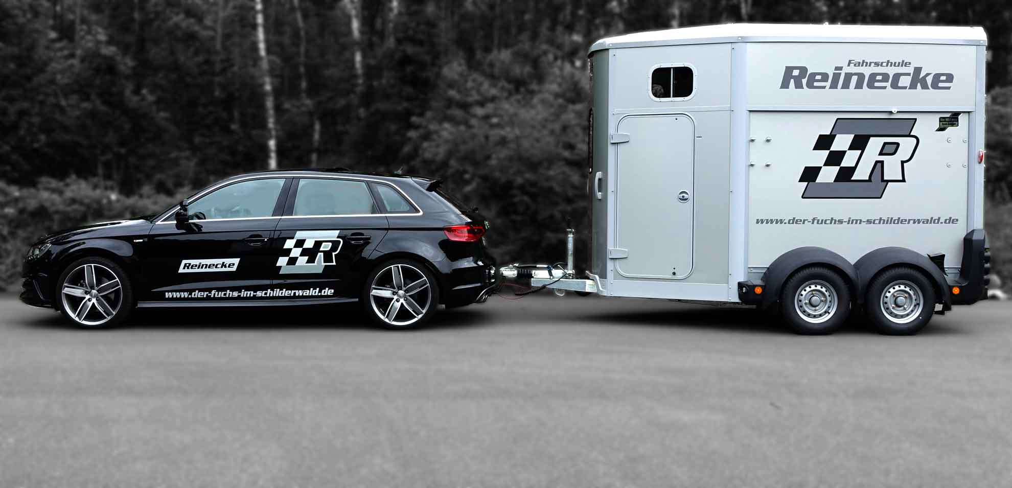 Audi A3 mit Pferdeanhänger